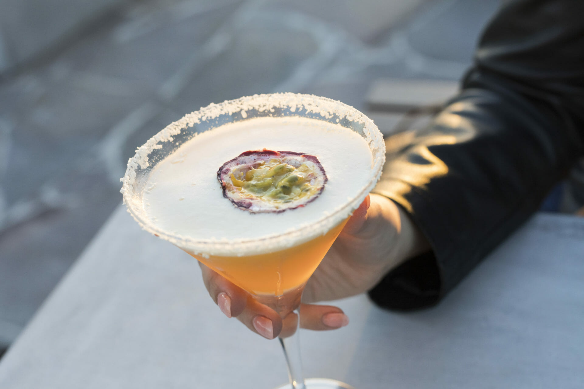 White Chocolate Passionfruit Cocktail